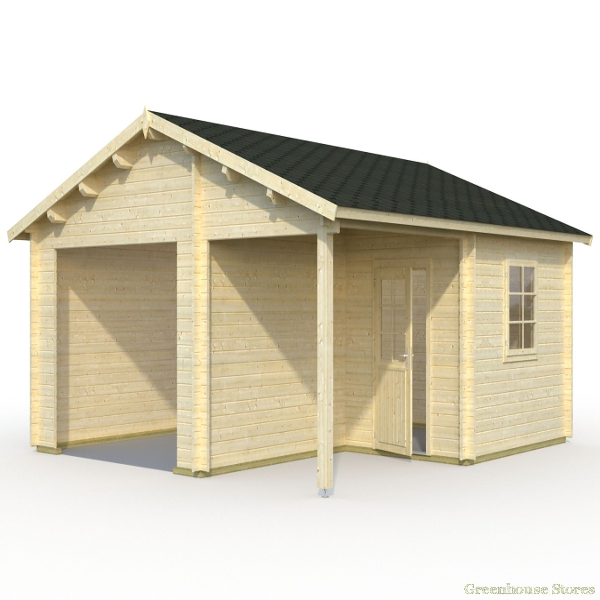 Palmako Wooden Garage 4 from Greenhouse Stores. http//www
