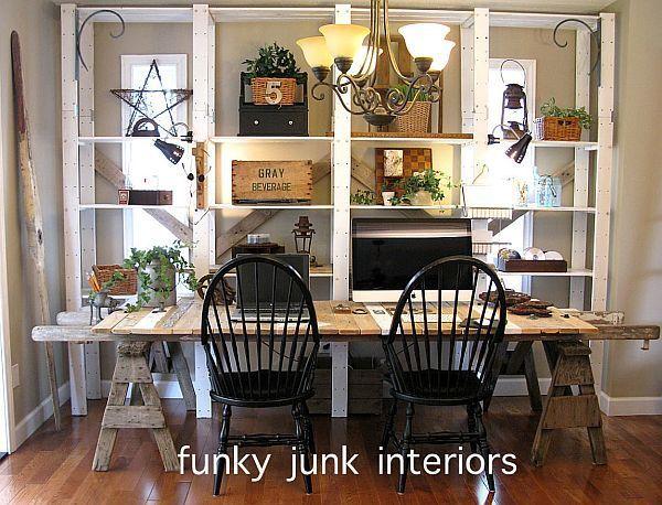Image detail for -diy farm table desk 1 - Modern Interior Design & Furniture - Decoist