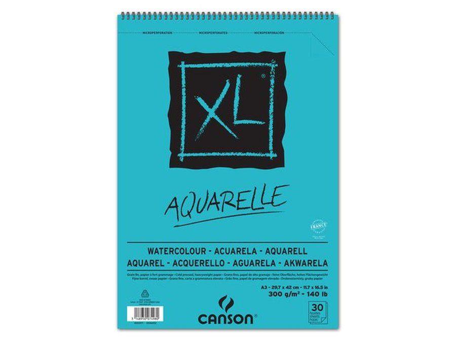 Aquarelblok Canson Xl A3 30v 300gr Spiraal Watercolor Marker