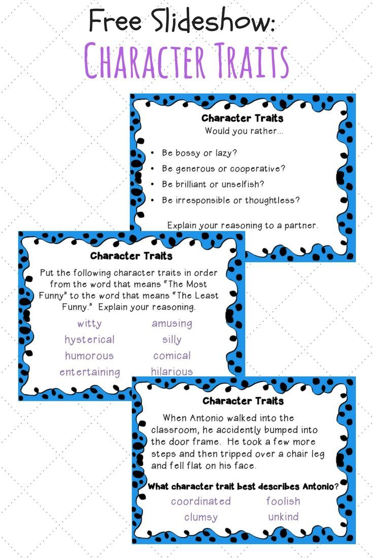 Worksheets Inferring Character Traits Worksheets Answer Key free slideshow for teaching character traits trait to use with your 3rd or 4th grade students