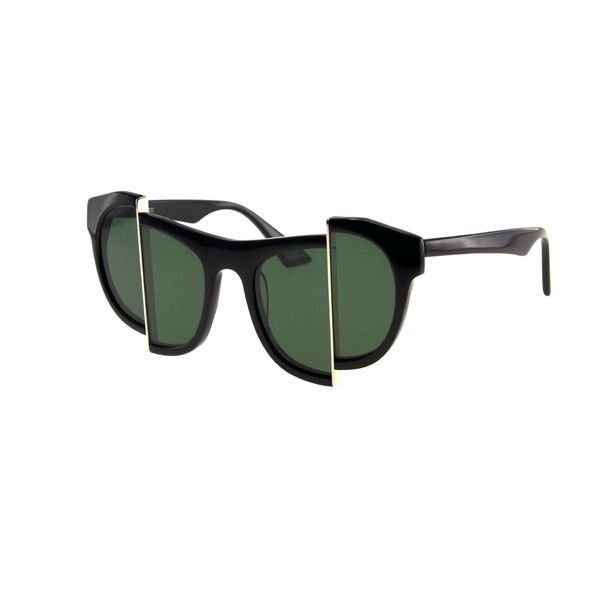 AXIS Y, a unique pair of sunglasses that will not obscure the wearer's vision, will be sure to offer clarity, comfort and UV protection. Please DO NOT wear for a long period of time or whilst driving.