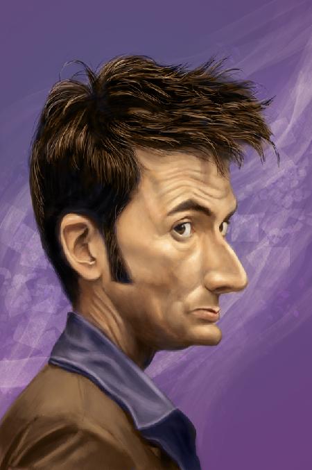 David Tennant  Artist: Mark Hammermeister  website: http://www.markdraws.com/