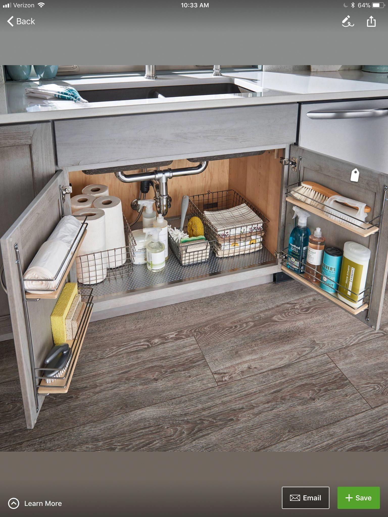 Under Kitchen Sink Storage Kitchenremodeltips Kitchensinkcabinet Under Kitchen Sinks Kitchen Sink Storage Under Kitchen Sink Storage
