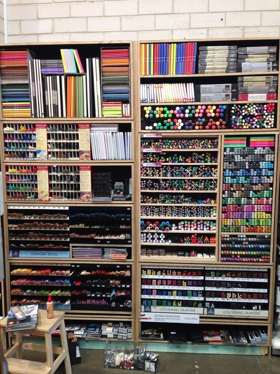 Wall of supplies. Sydney Art Store:  on We Heart I