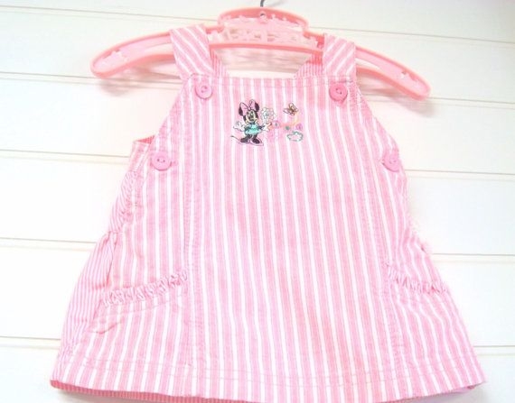 Vintage Baby Clothes  Baby Girl Dress/Jumper di OnceUponADaizy, $15.00