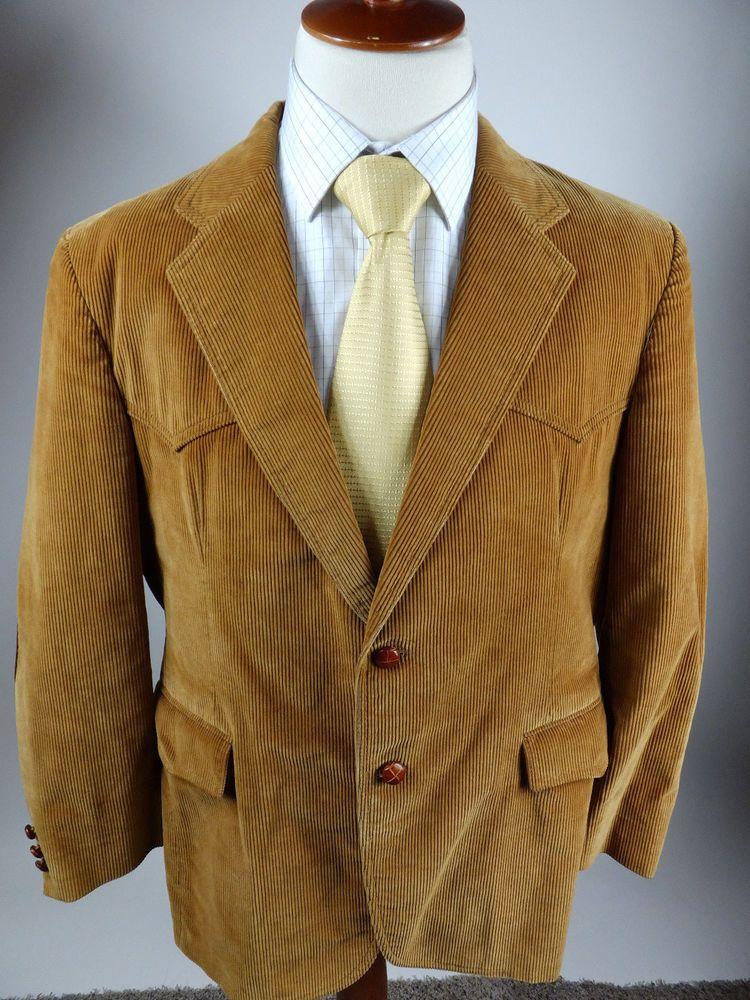 Levi 1970 Vintage Western Corduroy Jacket Coat Blazer