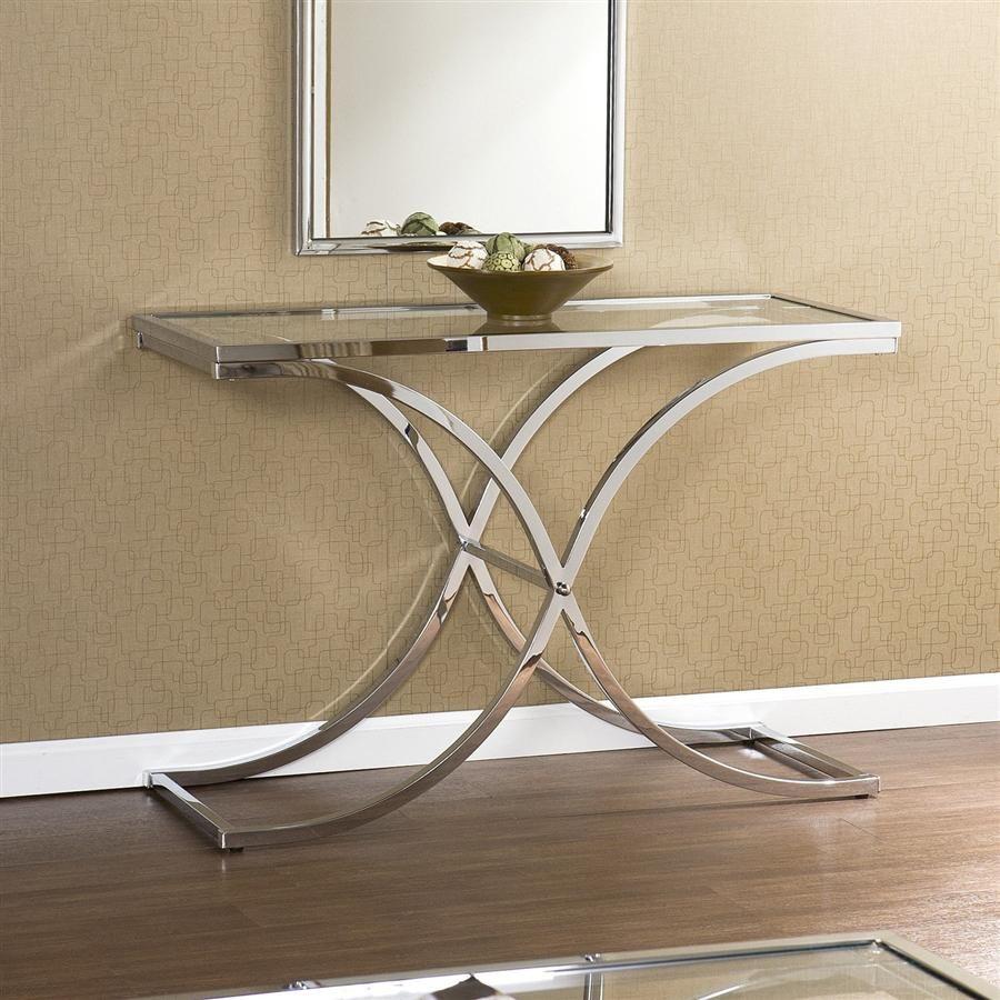 End of hallway ideas  Holly u Martin Roxburgh Sofa Table in Chrome Finish  design