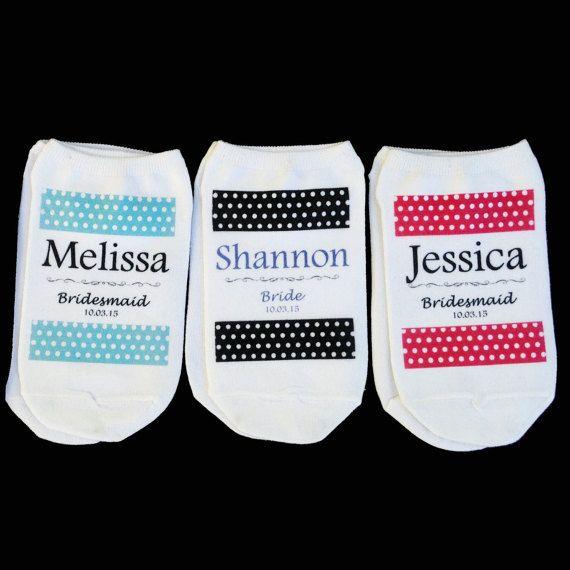 Team Bride Socks Bridesmaid Gifts Wedding by SockprintsOnEtsy ...