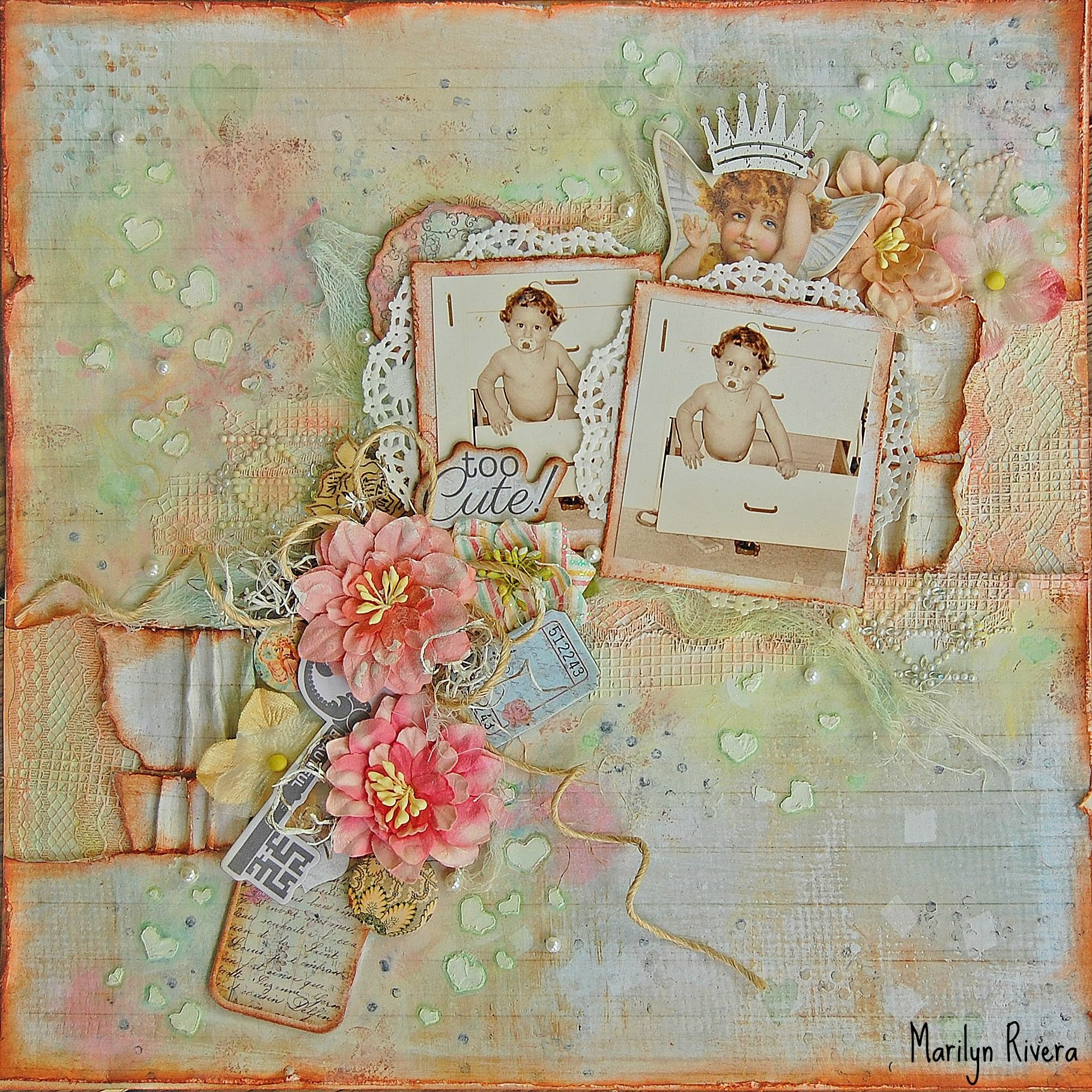 too cute!..May Limited Edition kit by My Creative Scrapbook featuring The Princess collection By Prima. More details..http://marilynrivera.blogspot.com/