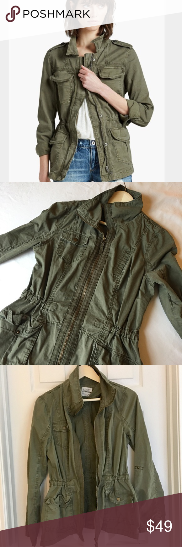 Ashley Outerwear By 26 Intl Green Utility Jacket Clothes Design Fashion Fashion Design [ 1740 x 580 Pixel ]