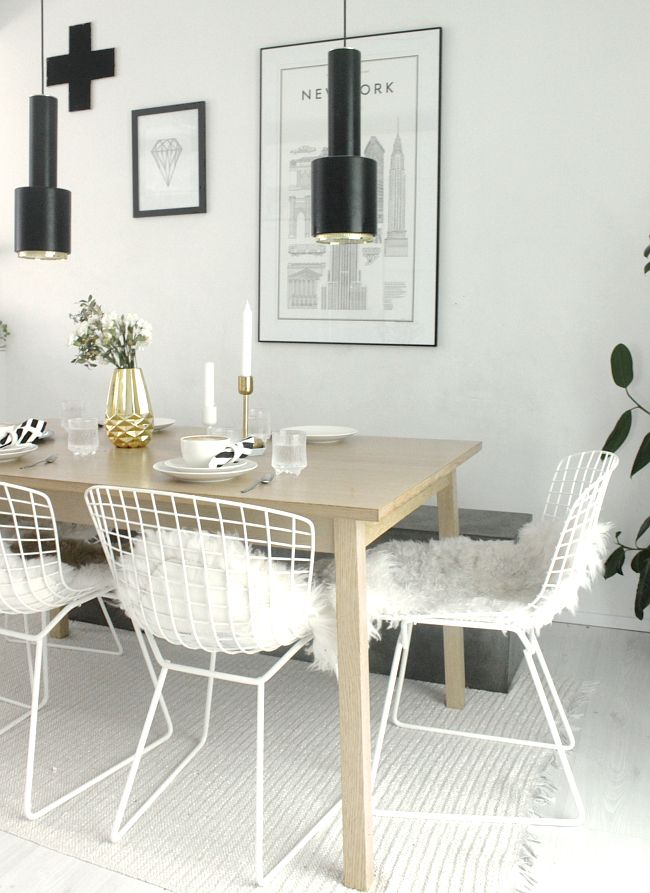 Excellent Wire Chairs With Sheepskins In 2019 Wire Dining Chairs Uwap Interior Chair Design Uwaporg