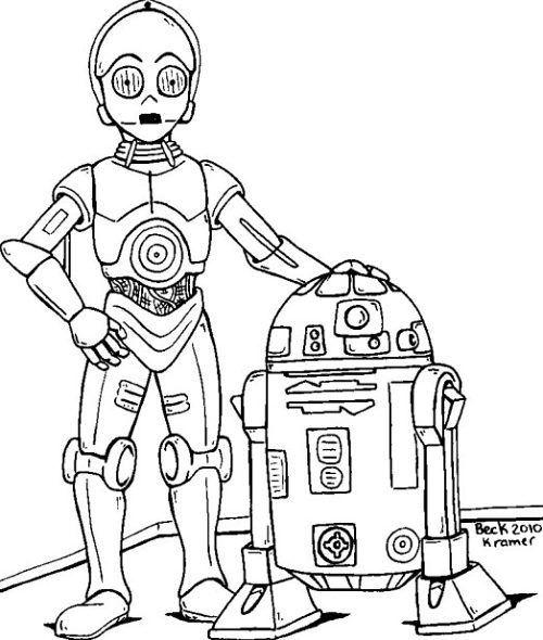 Draw C3PO & R2D2 | star wars | Pinterest | Dibujos, Dibujos para ...