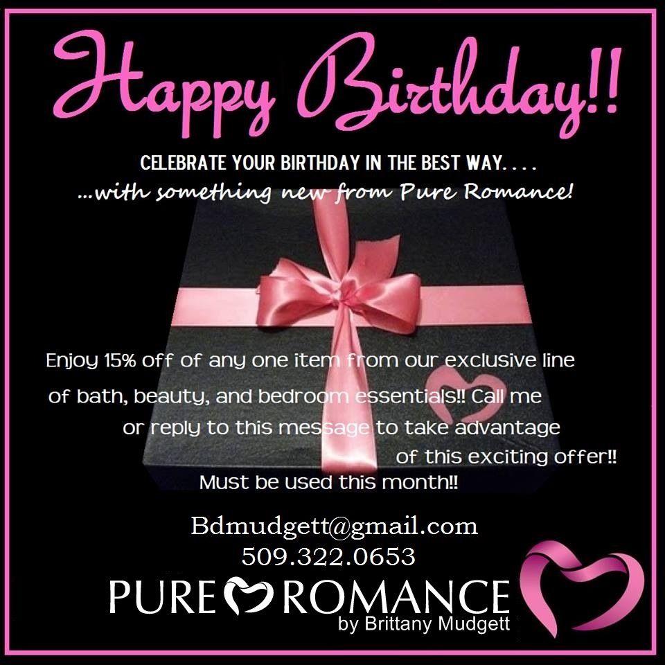 Birthday!!! Pure romance by Brittany Mudgett 5093220653