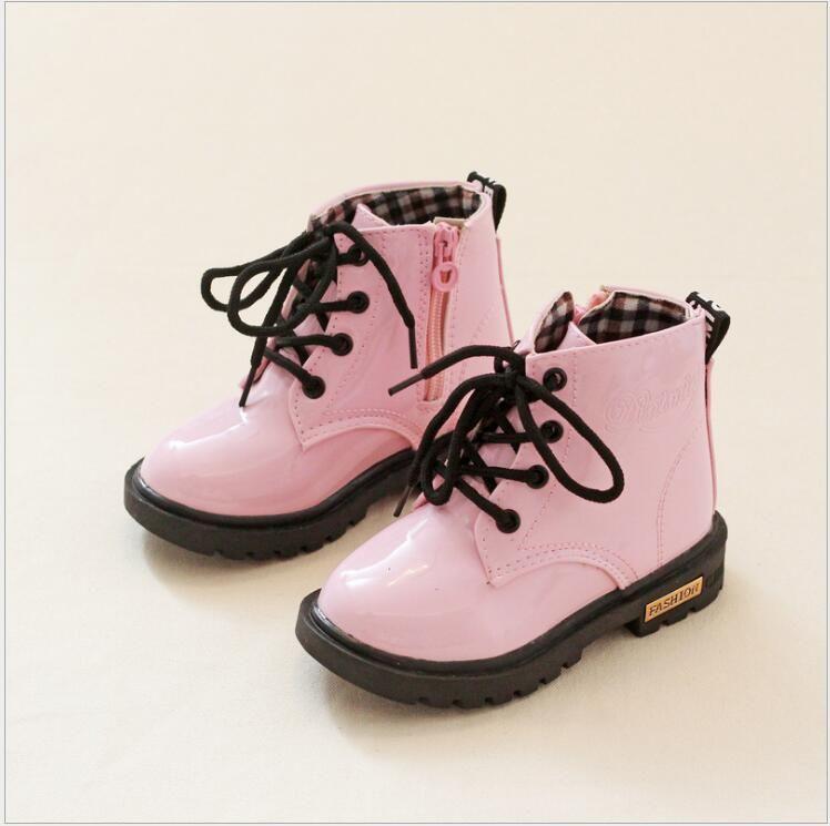 1aded800304 Otoño Niños Zapatos de Los Muchachos de la Manera Ocasional Martin Botas de  Marca Mujer Hombre