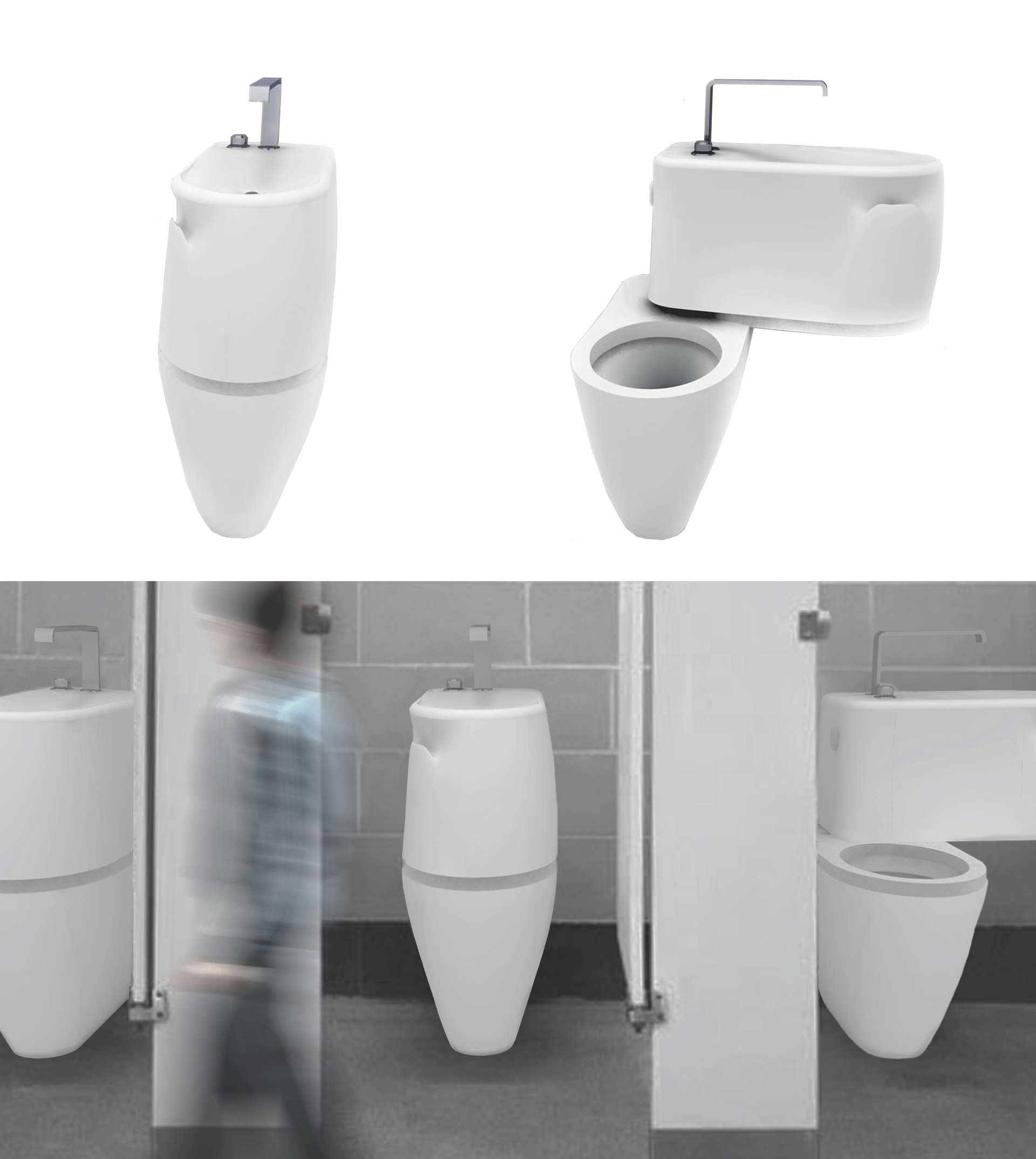 B Side By Act Studio Is A Neatly Combined Wash Basin And