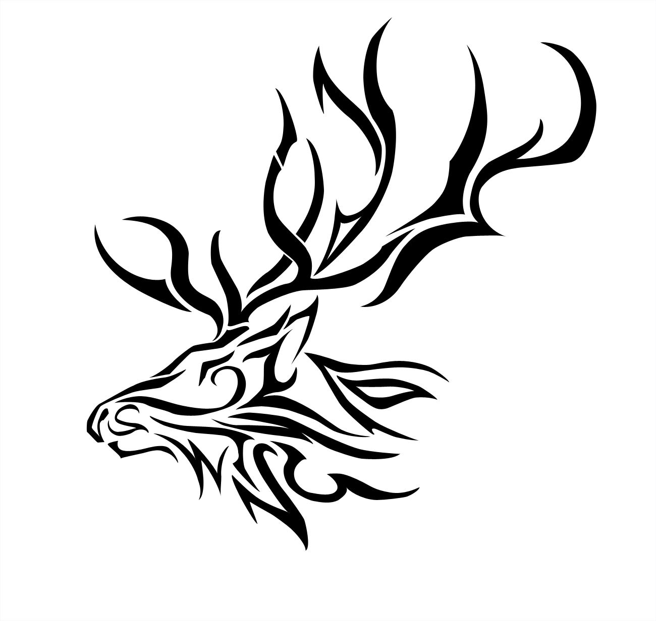 Free coloring pages elk - Decals