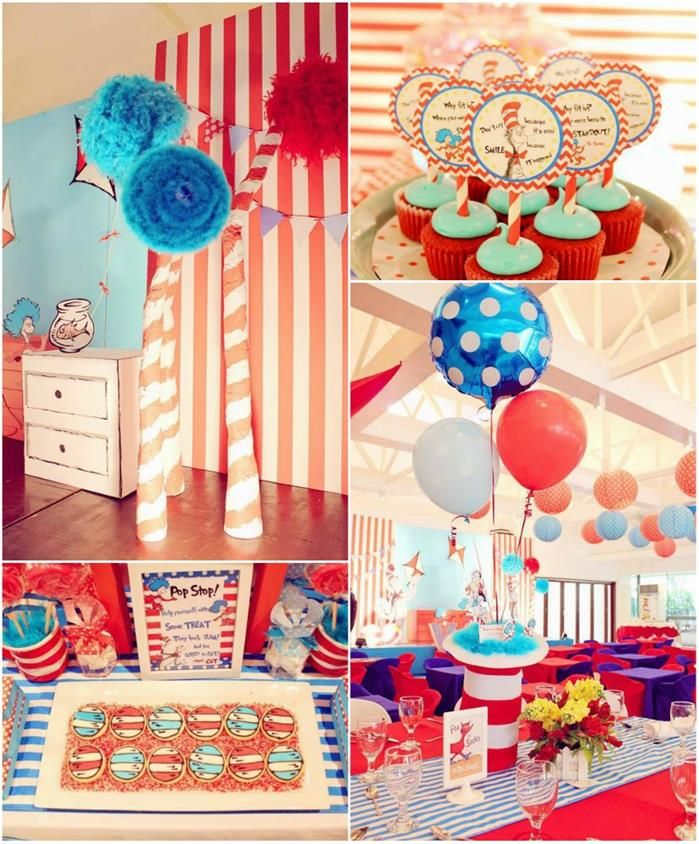 Cat In The Hat Party Planning Ideas Supplies Idea Birthday