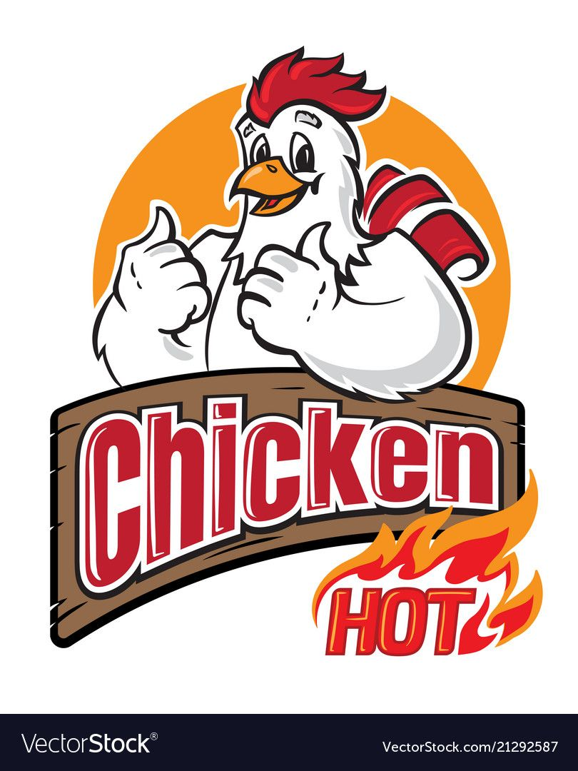 Funny Chicken Logo On White Background Vector Illustration Download A Free Preview Or High Quality Adobe Illustrator Chicken Logo Chicken Vector Vector Logo