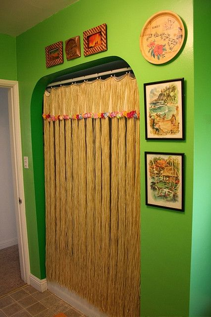 Beau Grass Skirt, Hanging Over Shower Curtain...Tiki Bathroom 2.0 By  Myimaginaryboyfriend, Via Flickr