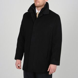 Tasso Elba Men's Black Wool-blend Carcoat with Bib | Elba, Black ...