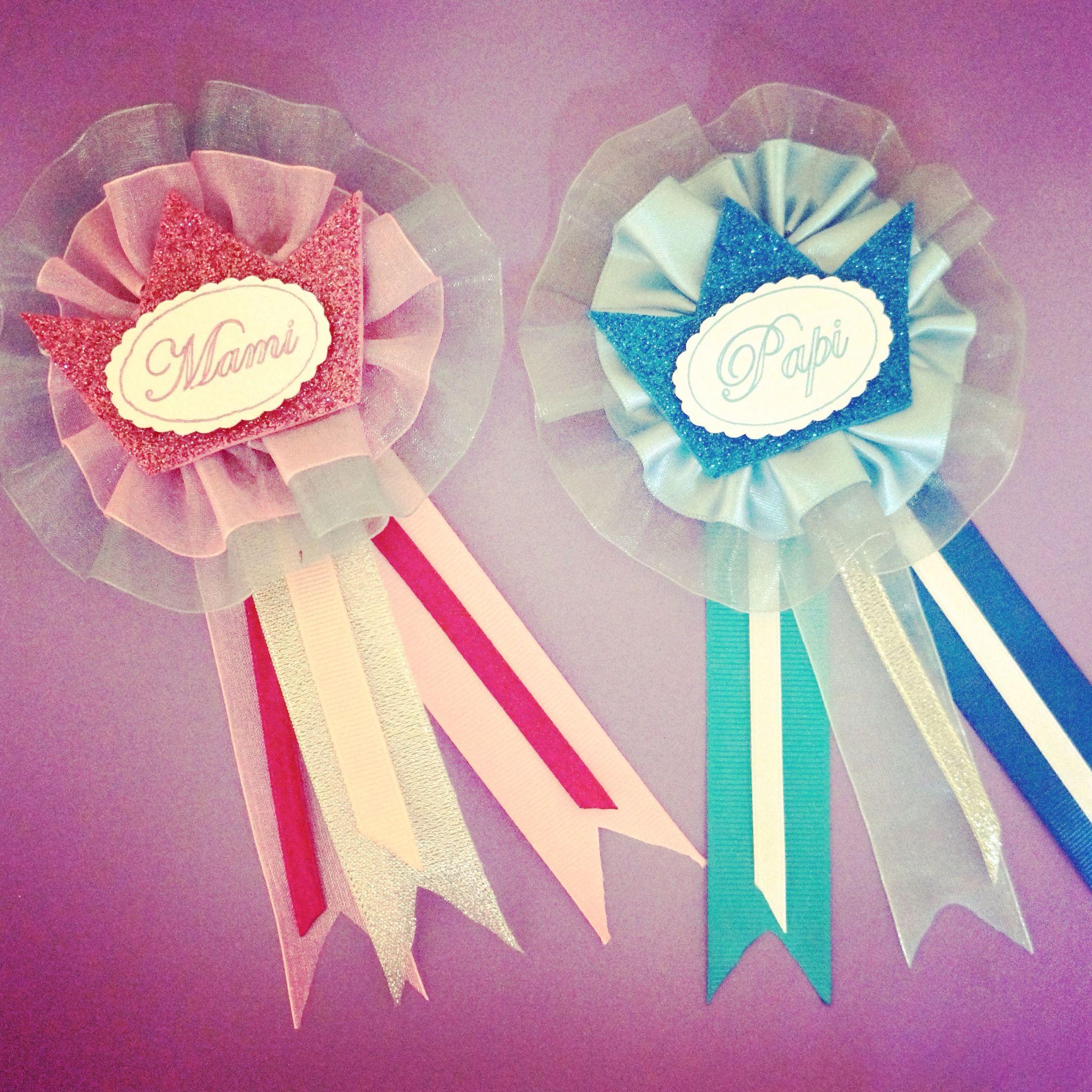 Distintivos Mami y Papi BabyShowerLP Princesa arttodeco