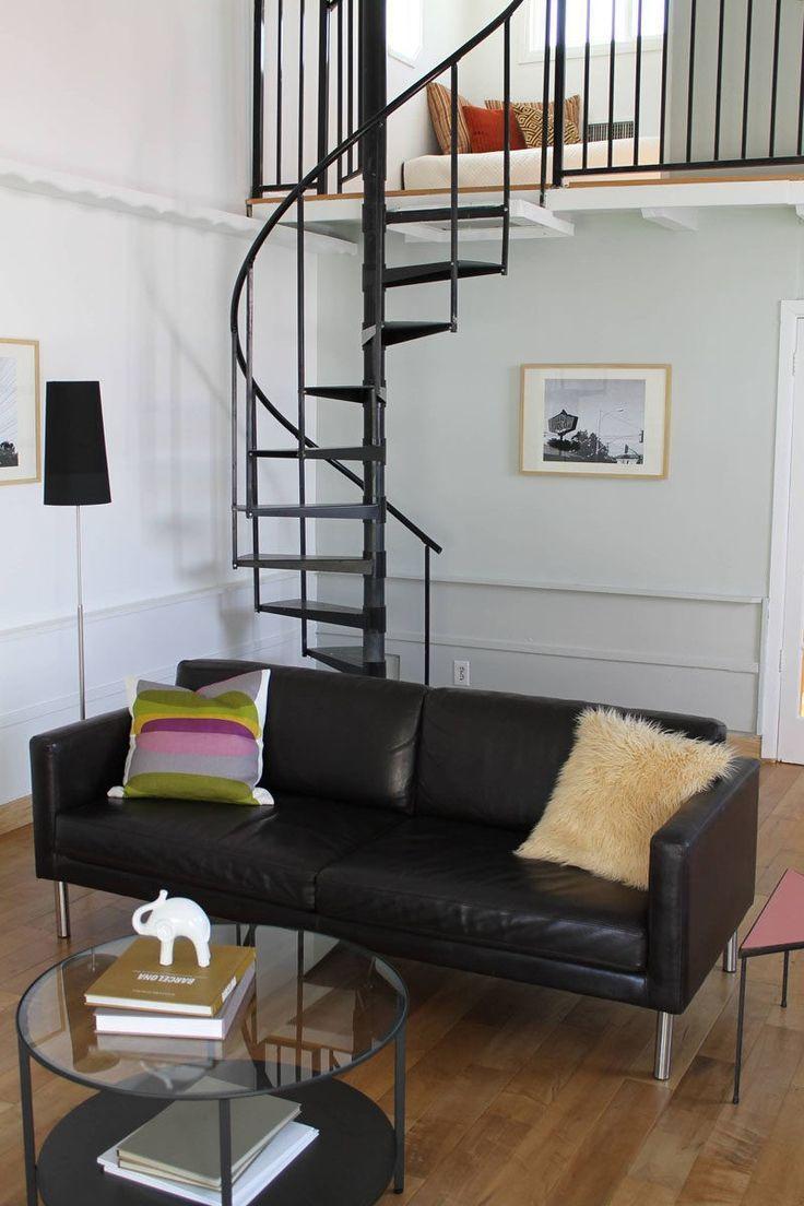 13 Treppe Design Ideen für kleine Räume / / dünne Wendeltreppe bis zu Schlafz – dolores