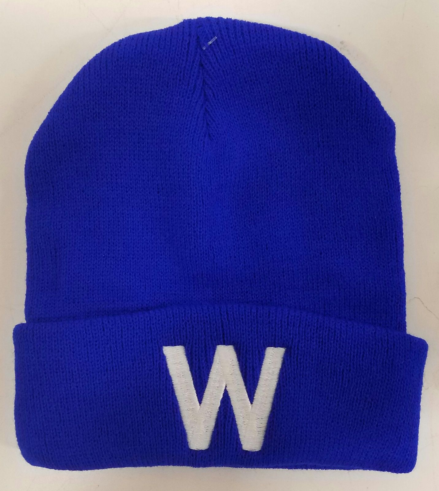 12.59 - Chicago Cubs Blue - W Winter Skull Hat W   Cubs Win  ebay   Collectibles ea85dbda213