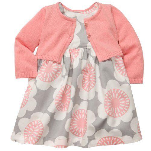 8bb977eca Carter s Baby Girls  Woven Dress Set - Ivory Pink Floral - Newborn ...