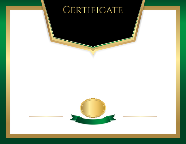Certificate Template Green Png Image Certificate Templates Templates Green Certificate