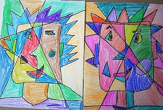 2nd Grade Cubism Faces