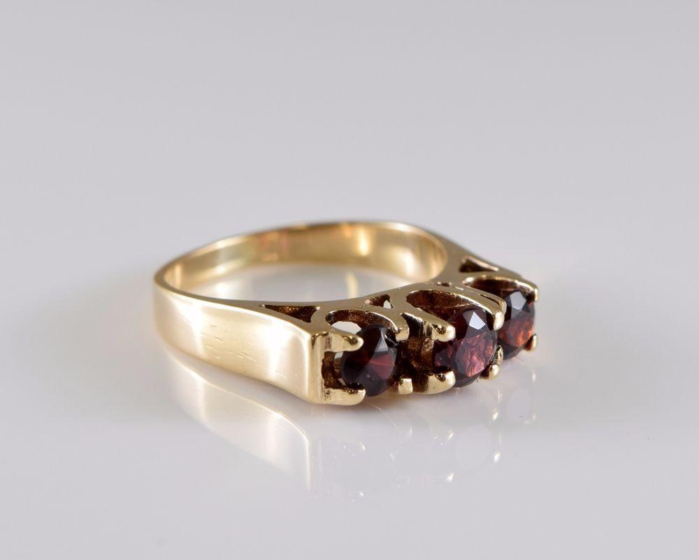 9cc9af7e8dbbc2 10K Yellow Gold Garnet Ring Size 5   Garnet rings, Ring and Gold