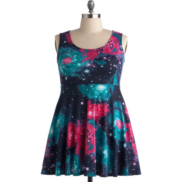Day off the Grid Dress in Galaxy - Plus Size ($50) ❤ liked on ...