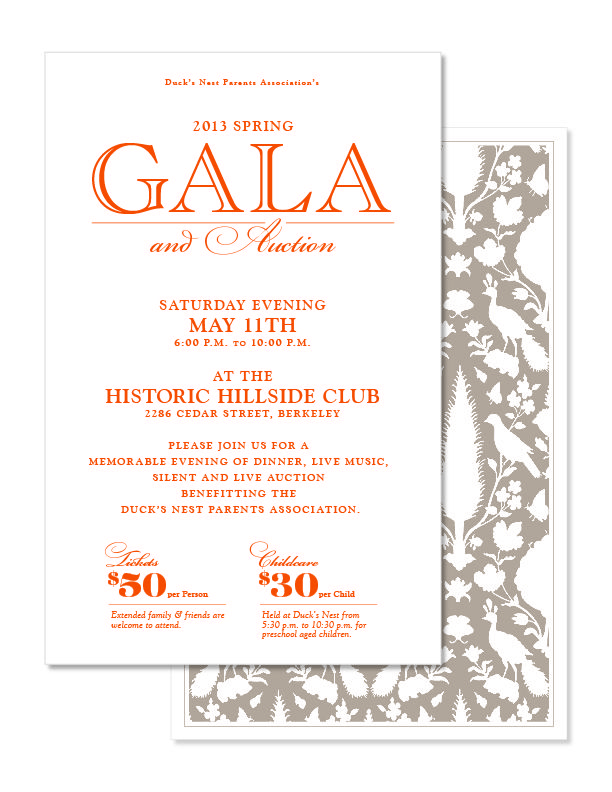Gala Invite Current Design Need to add info about how\/where to - formal dinner invitation letter