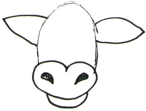 How to Draw Cartoon Cows / Farm Animals Step by Step Drawing