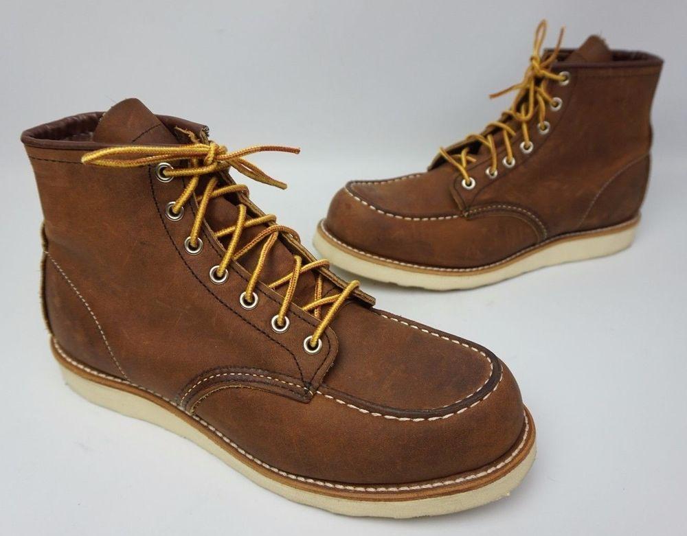 09e337cb3db Red Wing 8880 6 Inch Brown Bourbon Yuma Leather Classic Moc Toe ...