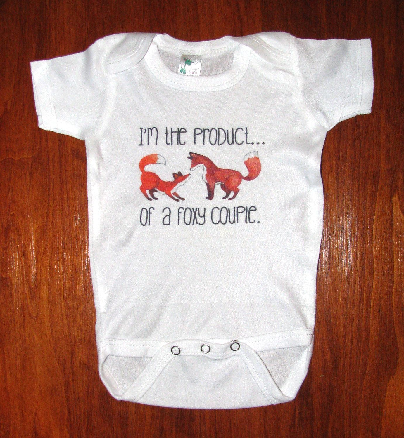 Fox baby clothing Cute Baby clothes Funny Baby by WatercolorZoo