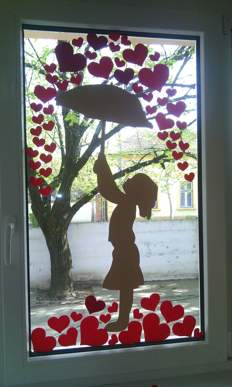 ablakdísz, dekor, szív