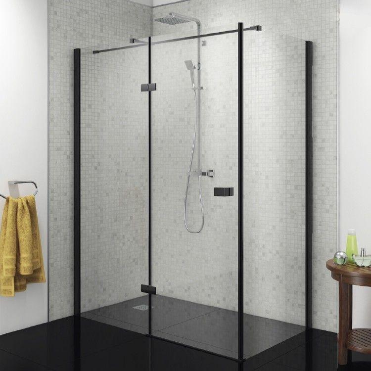 Vodas 8 Stella 8mm Black Hinged Shower Enclosure Framed Shower Enclosures Framed Shower Shower Doors