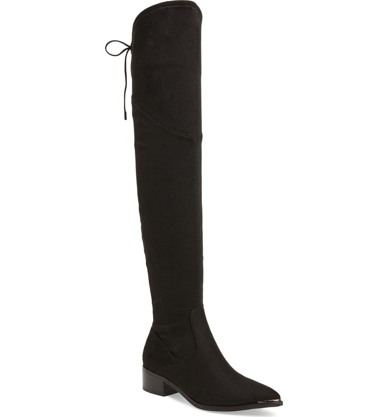 63d6b4b9277 Free shipping and returns on Marc Fisher LTD. Yuna Over the Knee Boot  (Women) (Narrow Calf) at Nordstrom.com. Slim laces tie at the back of a  luxe boot ...
