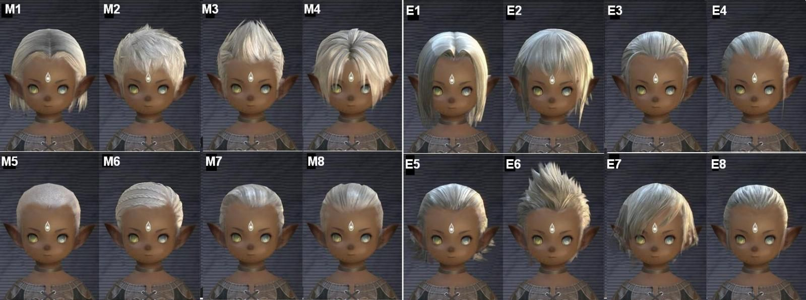 final fantasy xiv: a realm reborn - lalafell shared hairstyles