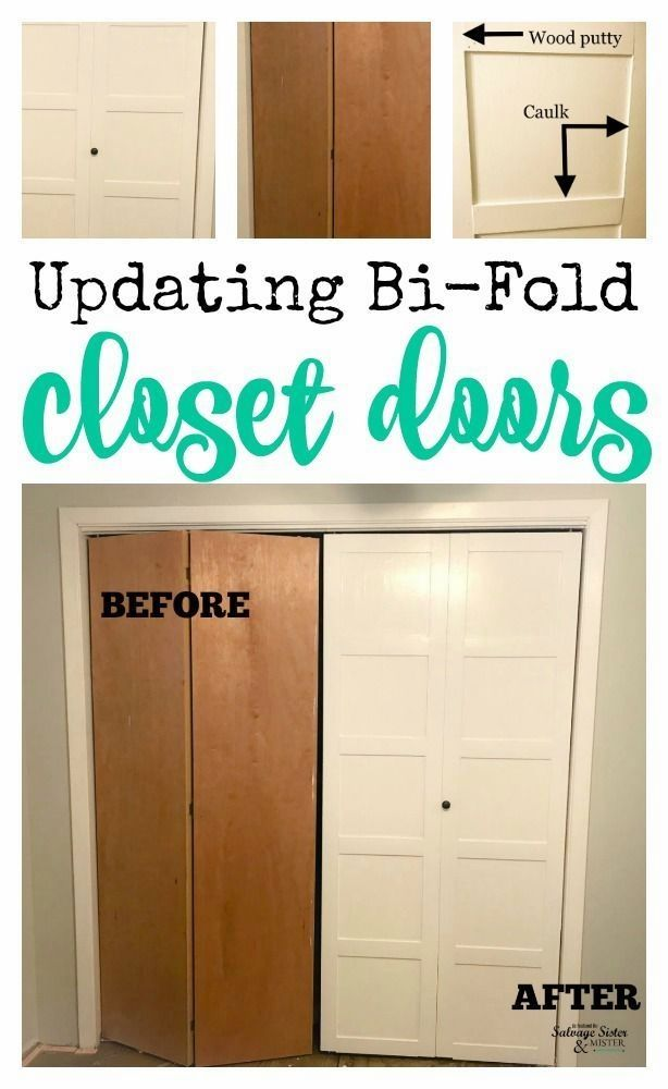 Have Old Closet Doors You Need To Replace Not So Fast How About Updating Those Bi Fold Closet Doors Diy Home Improvement Closet Door Makeover Home Remodeling