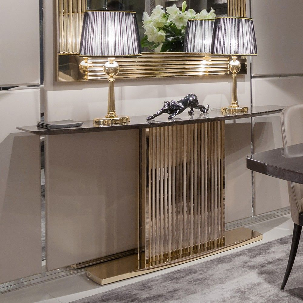 47++ Living room console tables gold information