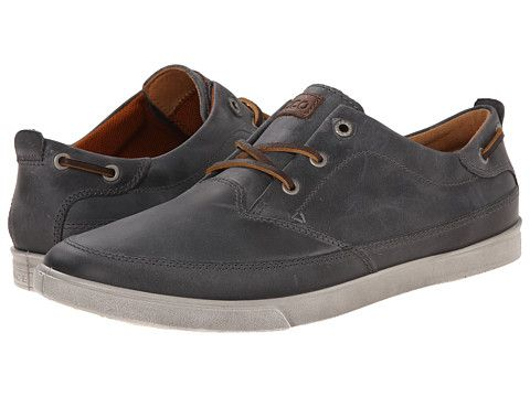 100da24346 ECCO Collin Nautical Sneaker Titanium/Cocoa Brown - Zappos.com Free ...