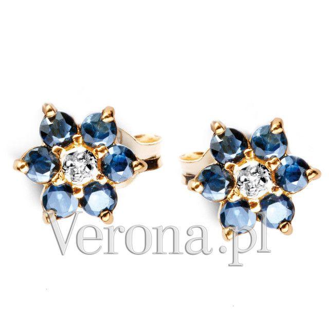 Kolczyki Z Diamentami I Szafirami 9 Błyskotki Verona
