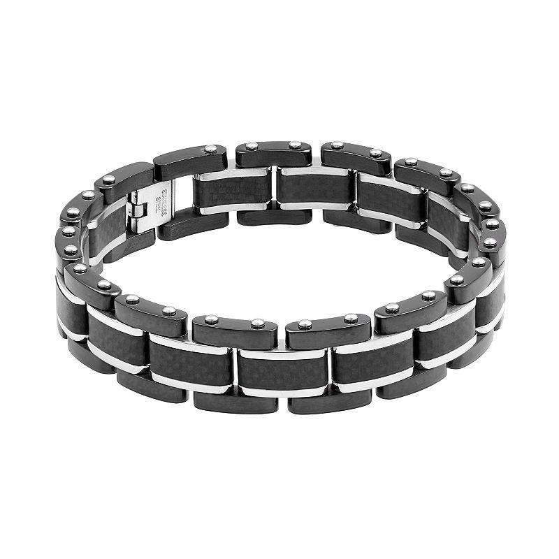 Lynx Men S Carbon Fiber Stainless Steel Bracelet Mens Gold Bracelets Stainless Steel Bracelet Bracelets For Men