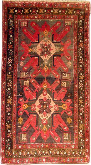 Adler Kazak Teppich Kaukasus 256 X 134 Cm Teppich Teppich Orient Adler