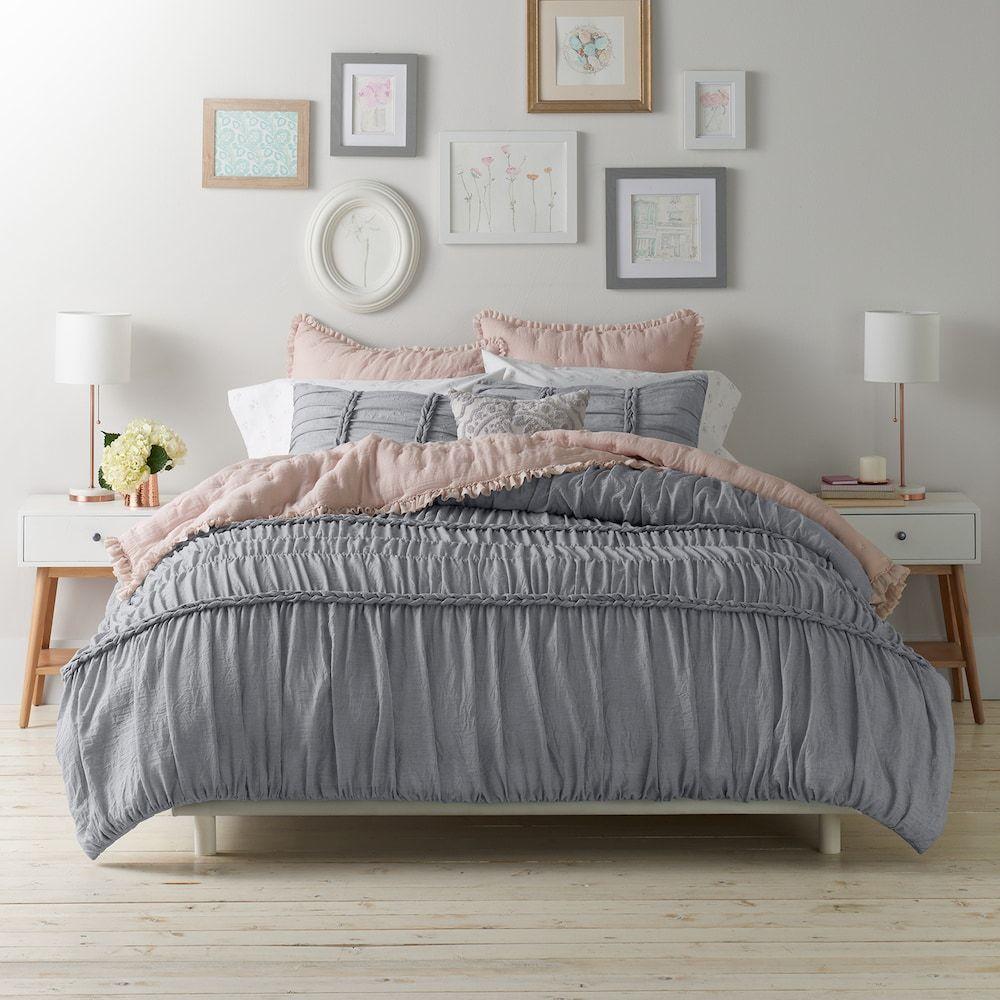 Lc Lauren Conrad Braided Duvet Cover Set Comforter Sets Bedroom Decor Duvet Bedding
