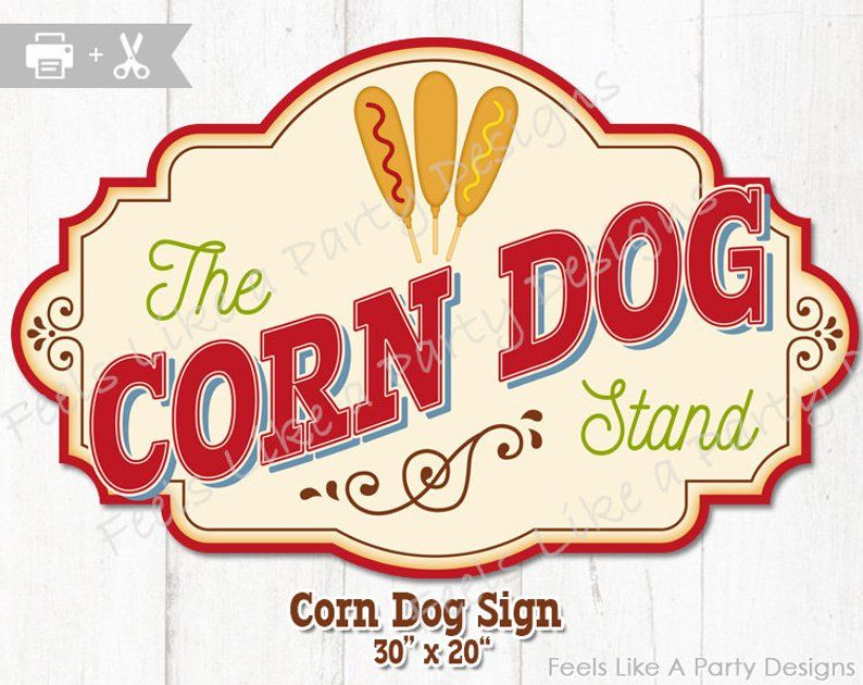 Printable Picture Of Corn Dogs