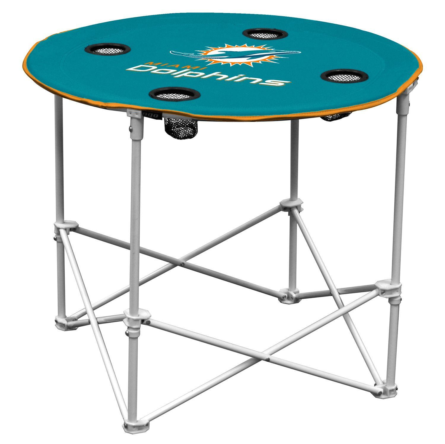 Miami Dolphins Round Tailgate Table Tailgate Table