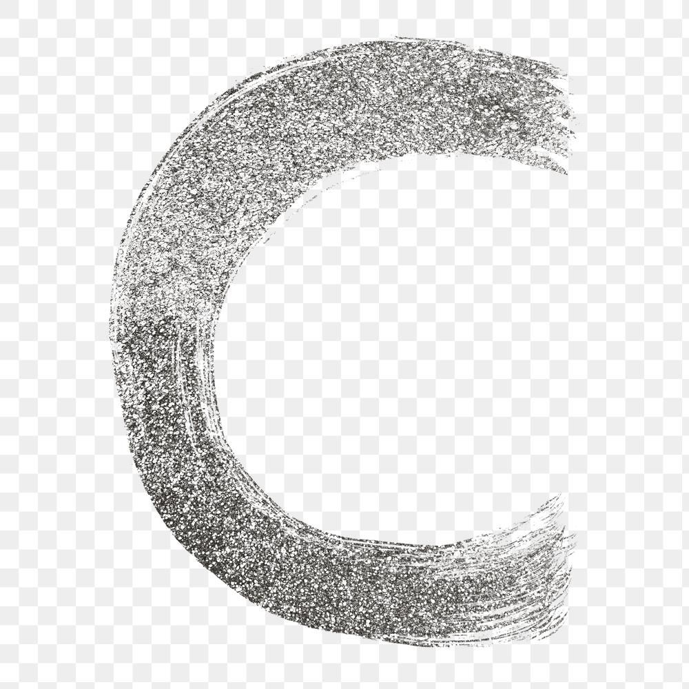 Letter C Png Silver Glitter Brushed Typography Free Image By Rawpixel Com Hein Typography Silver Glitter Glitter Letters